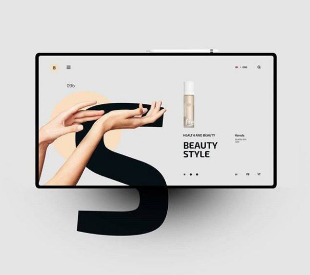 Скриншот дизайна интернет-магазина на экране планшета