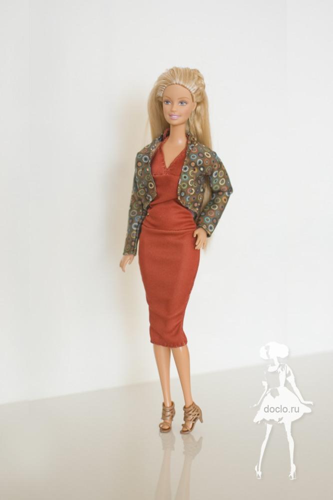 Фотография платья и жакета для барби