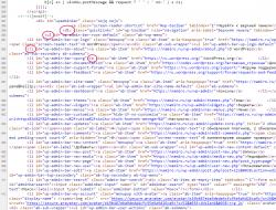 Скриншот тегов HTML на странице