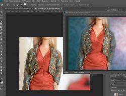 Скриншот программы Photoshop где мы делаем обтравку изображения и смену фона