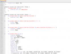 Скриншот стилей в файле style.css