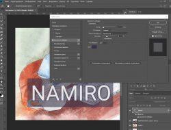 Скриншот программы Photoshop где мы накладываем водный знак на изображение